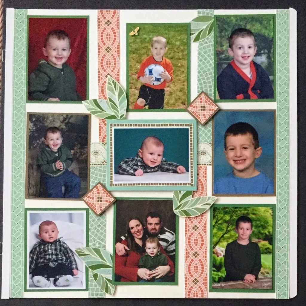 Mosaic Mood Scrapbook Page