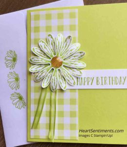 Birthday Daisy card using Gingham Gala paper