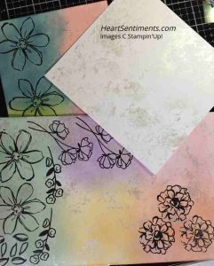 Shimmer frost and sponge white card stock