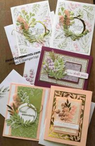 Combo of Forever Greenery cards