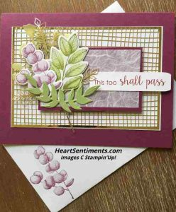 Razzleberry greenery card