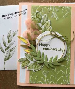 Forever Fern card with olive embossed panel
