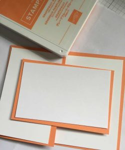 Card stock and layering pieces for this card template