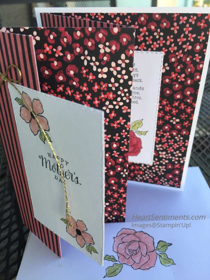 Mother's Day card with DSP accordion fold