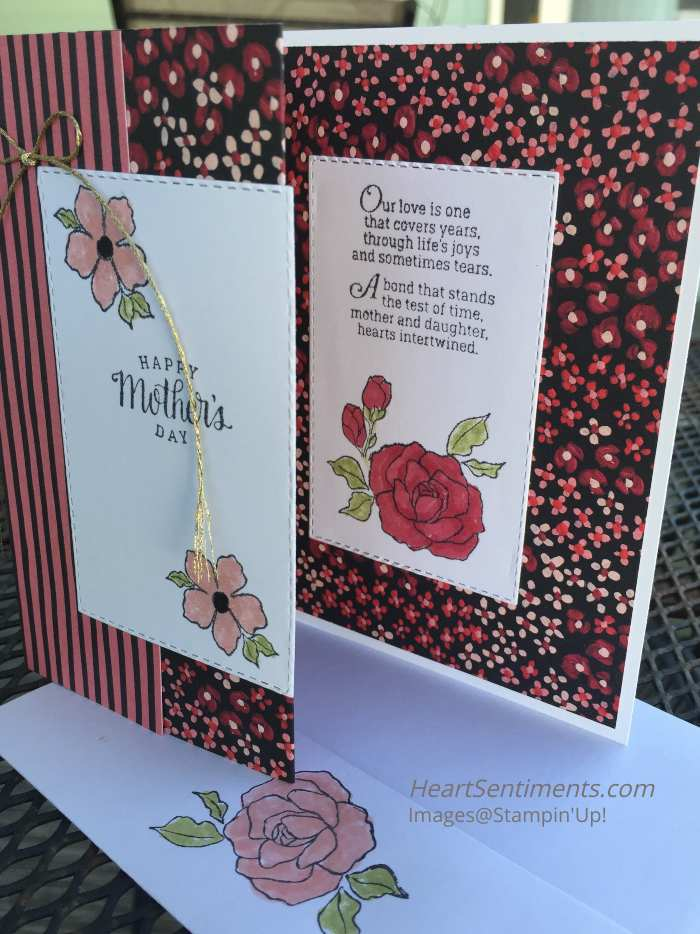 Mother's Day card made into Z-fold card