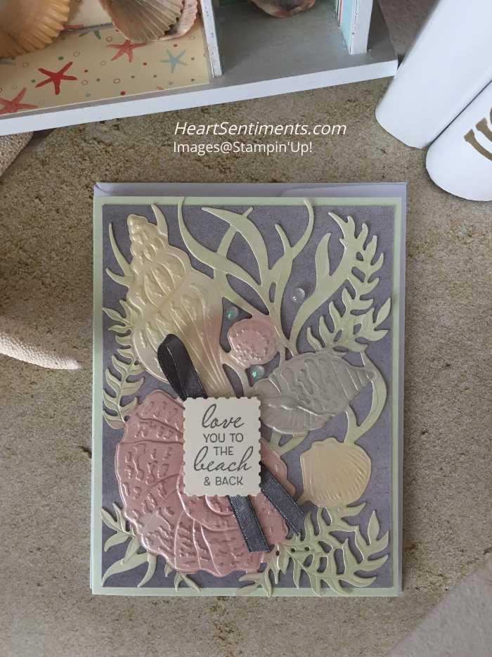 Embossed Seashells card