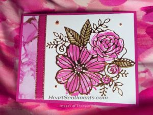 Expressions in Ink card with gold foil die cut