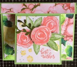 Funky fold flap card using Expression in Ink products
