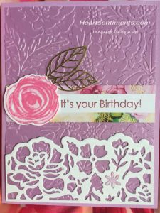 2021-23 In Color card with Pretty Flowers embossing folder