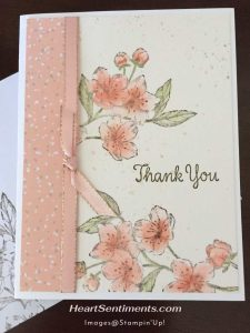 Forever Blossoms card with water color panel
